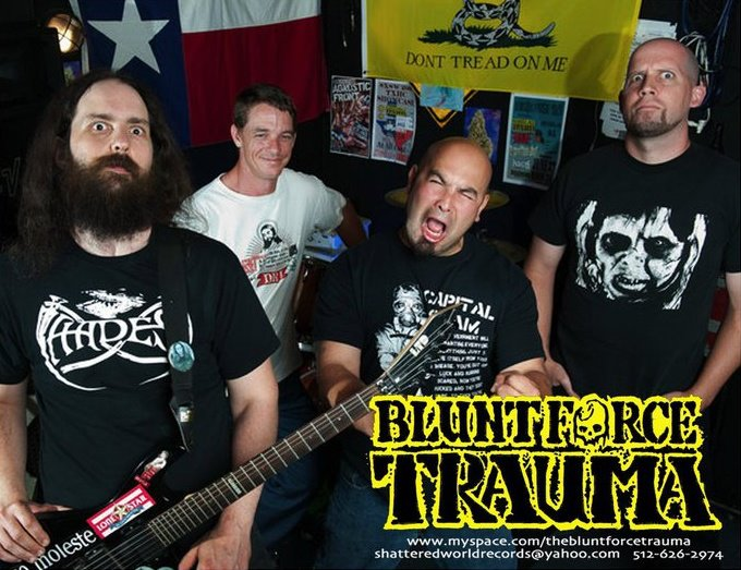 Blunt Force Trauma ( l to r ) Alan Slaytoven, Felix Griffin, Bobby Fuentes and Craig Holloway