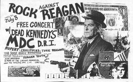 rock against reagan flyer