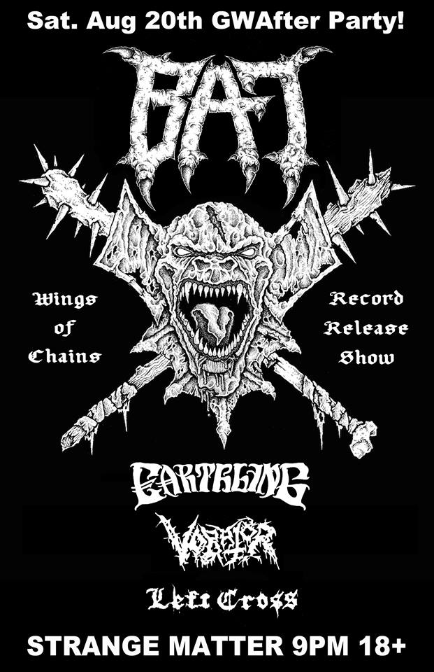 bat gwar after party flier
